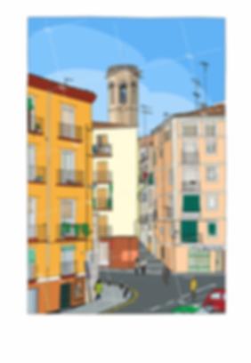 Calle la Palma de Lleida