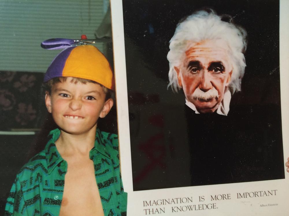 Andrew, 1992. He LOVED Albert Einstein.