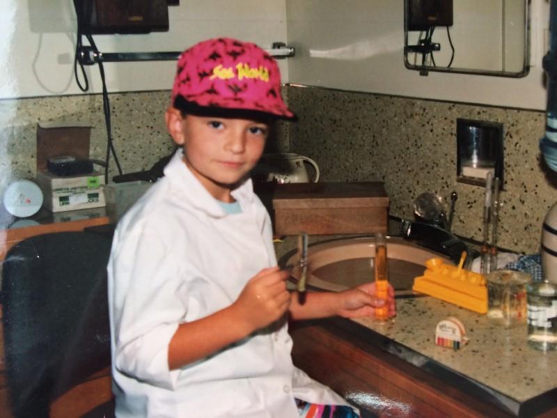 Andrew, scientist age 6