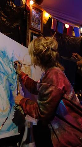 Live-Malerei in unserem Art Temple