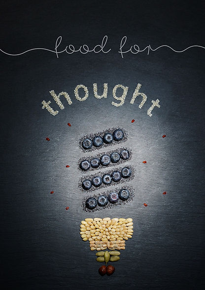 Food for Thought. Food typography experiment with Beth Galton
