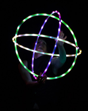 LED Hooping with Pyromanct at Steampunk Fest 2017