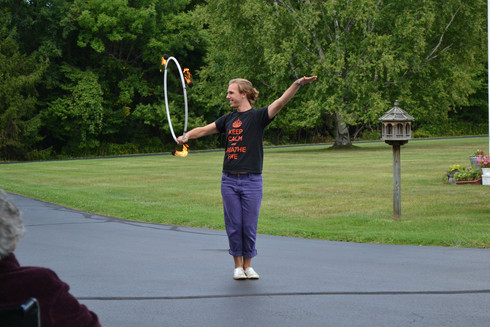 Fire Hooping at Alpine Manor