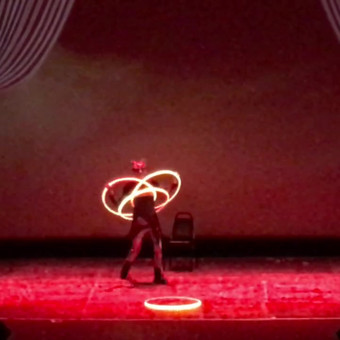 Performing in the Fire and Ice Ball II, produced by Salt City Burlesque