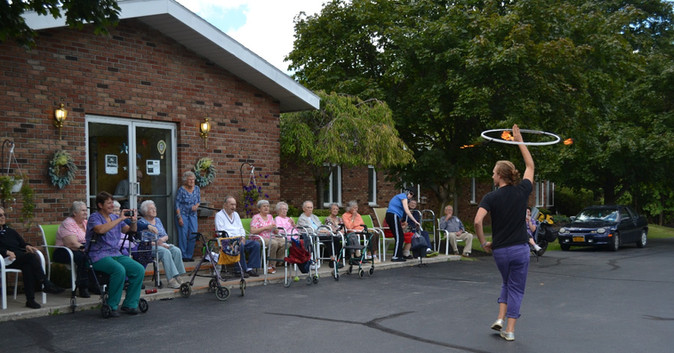 Performing for the residents of Alpine Manor
