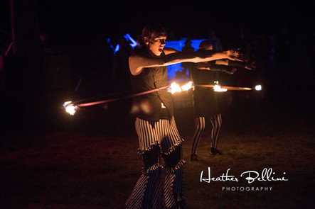 Fire Hooping with Pyromancy at the Steampunk Fest 2017