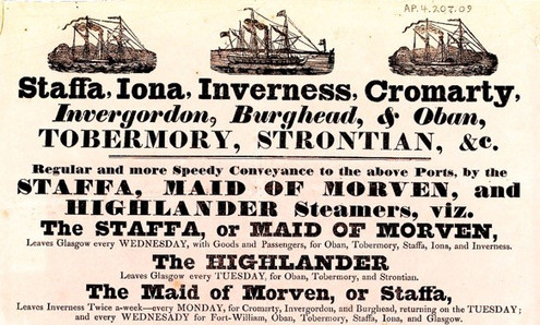 FIRST STEAMERS TO THE HIGHLANDS & ISLAND