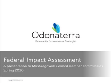 Federal Impact Assessment Presentation - Odonaterra