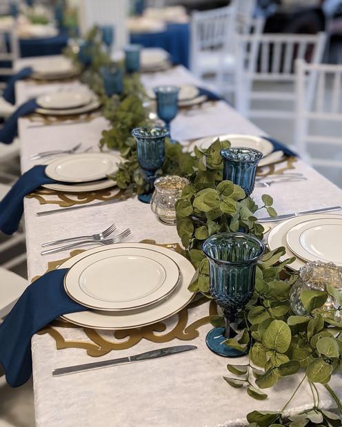 Rectangular Table setting