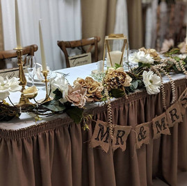 Head Table Display