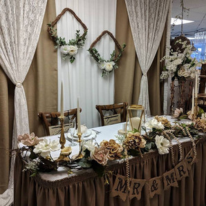 Head Table Backdrop Display
