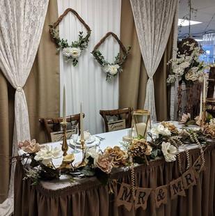 Head Table Backdrop Display
