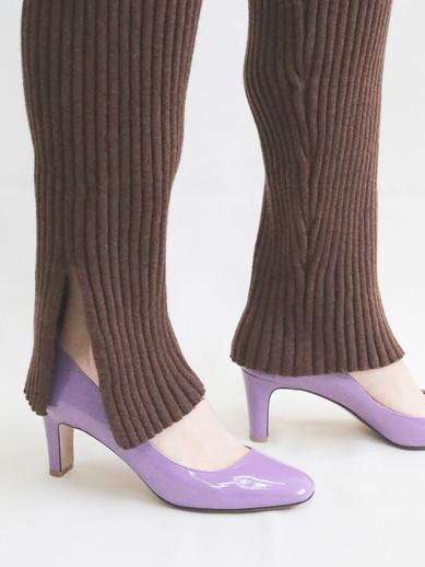 Art.no. ORW-1 Heel: 7cm Price: 26,000yen / 28,000yen+TAX Color: Beige, Purple / Croco-Black, Croco-Choco