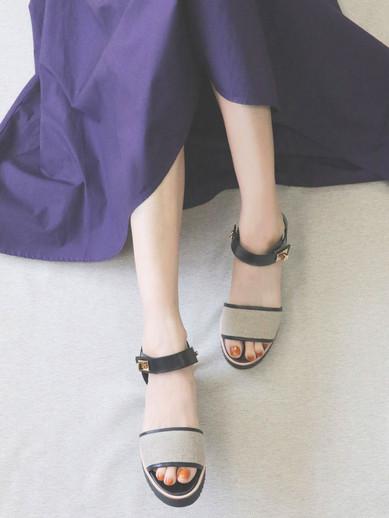 Art.no. TSS-2 Heel: 5cm Color: Linen Price: 34,000yen+TAX