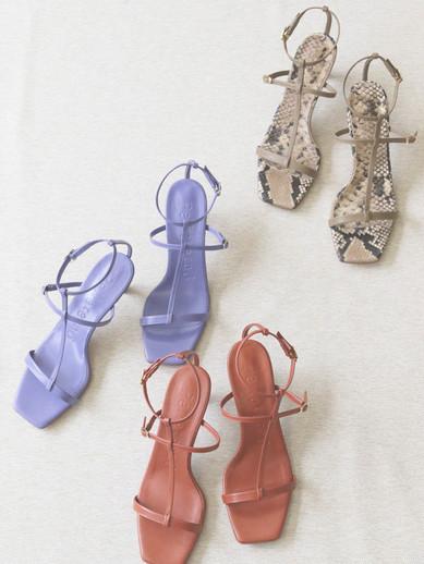 Art.no. OM-5 Heel: 6cm Color: Lavender, Orange Brown, Khaki, Black / Python-Khaki, Python-Mix Price: 28,000yen+TAX / 30,000yen+TAX