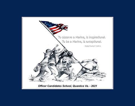 OCS Candidates Iwo Jima Graduation Gift