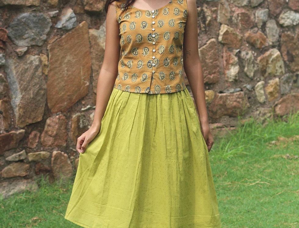 Jaggery Handblock Printed Skirt