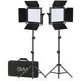 GVM 800D-RGB LED Studio 2-Video Light Ki