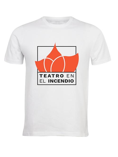 """Camiseta """"Teatro en el Incendio blanca"""""""