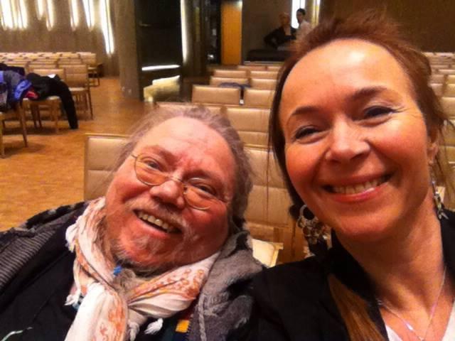 Piera Jovnna A. Somby og Hilde Merete Øverby her før konserten