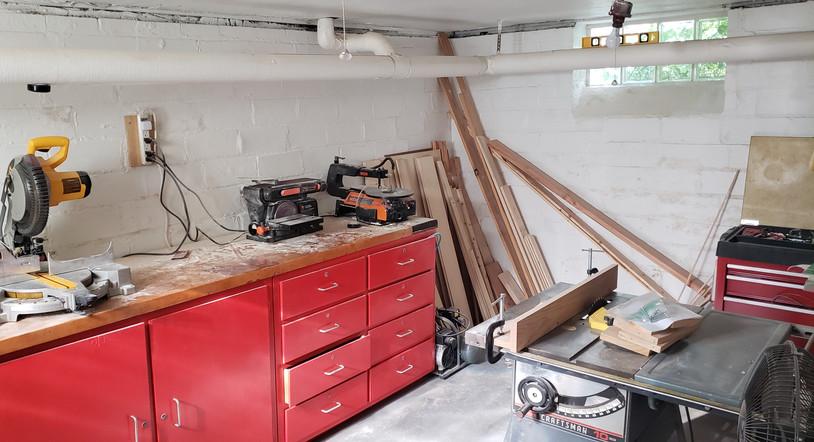 Cleveland basement woodshop