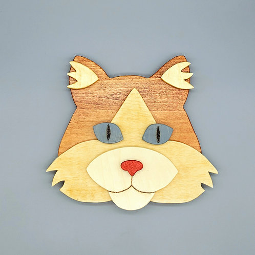 Ginger Cat Wall Face
