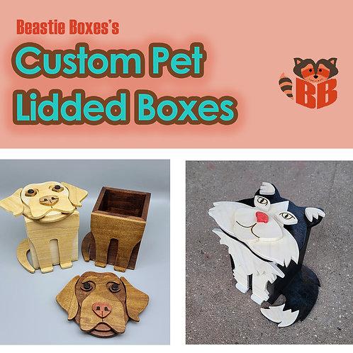 Custom Lidded Pet Box