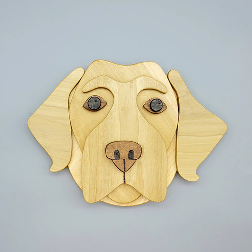Yellow Lab Wall Face