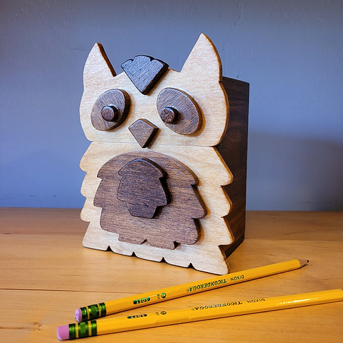 Owl Pencil Box