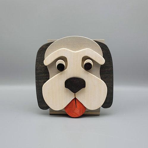 Grey Hound Dog Open-Top  Box