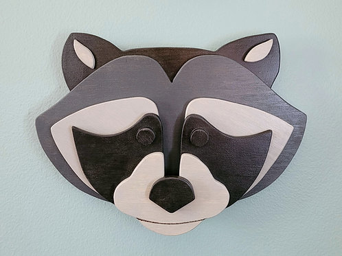 Racoon Wall Face