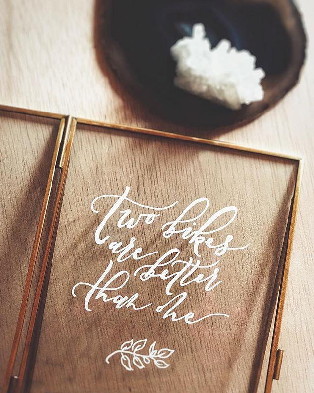 Modern Calligraphy Wedding Frame