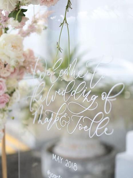 Wedding Acrylic Floating Signage