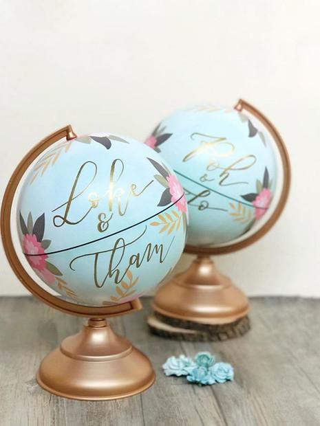 Customised Wedding Globes