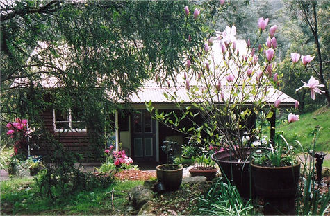 Farm Cottage in a beautiful garden setting at HorseHaven Farm Stay