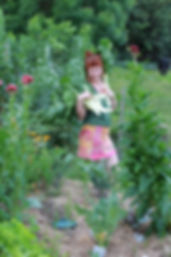 Who is also an excellent photographer and loves organic gardening like her Mum.