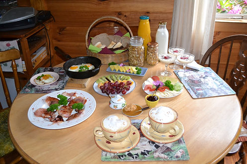 This breakfast is made with love, creativity and only from the freshest and quality ingredients. The coffee is properly brewed with organic coffee beans. The breakfast can also be served as a vegetarian option.