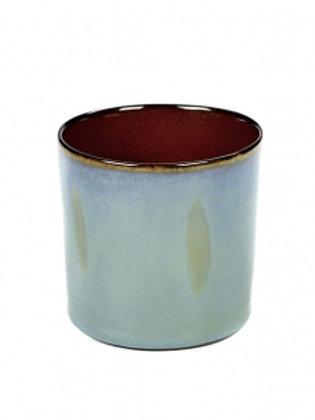 BECHER ZYLINDER HOCH D7,5 H7,5 SMOKEY BLUE / RUST