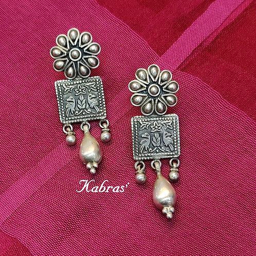 Antique Floral Drop Earrings