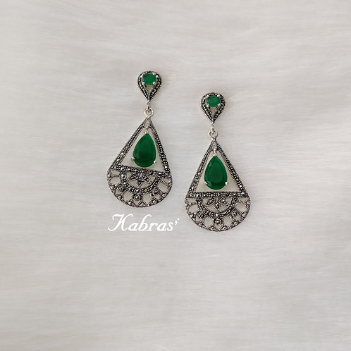 Green Onex Earrings