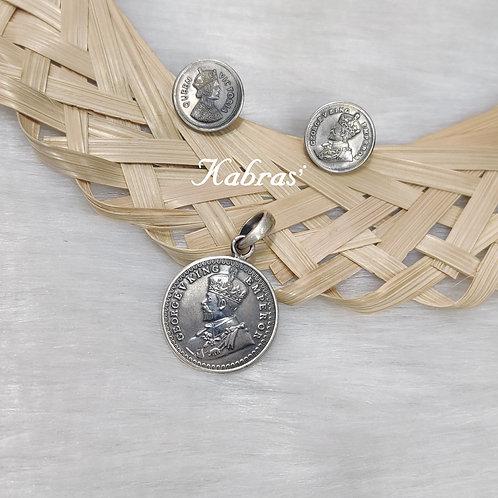 Victorian Coin Pendant Set