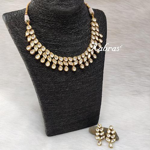 Leafy Kundan Necklace