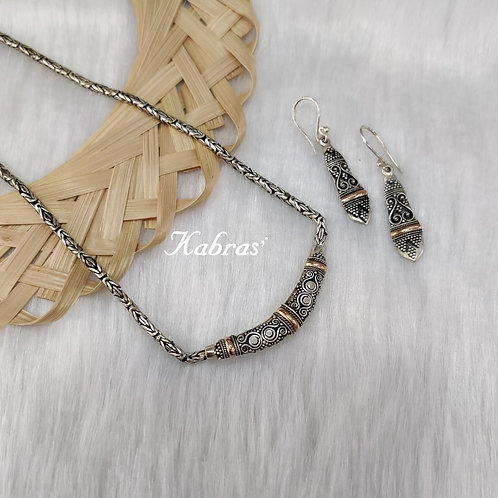 18k Gold & Silver Necklace