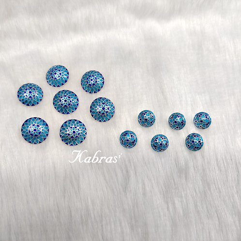 Blue Sherwani Buttons