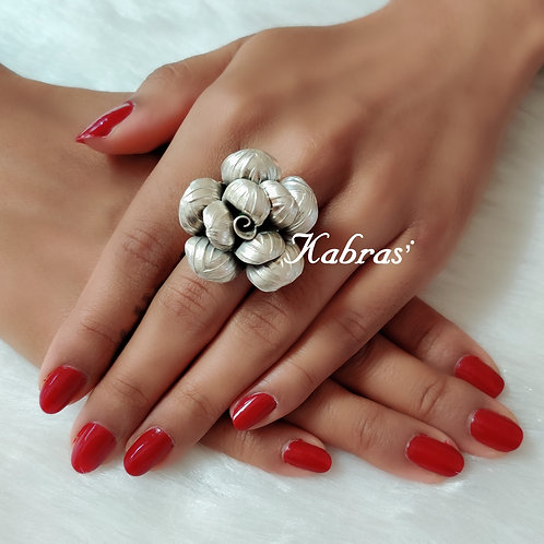 Striped Rose Ring