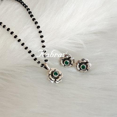 Green Rose Mangalsutra Set