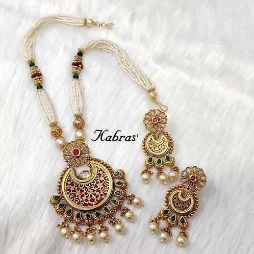 Chandrika Thewa Necklace