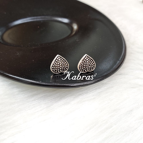 Dotted Heart Studs