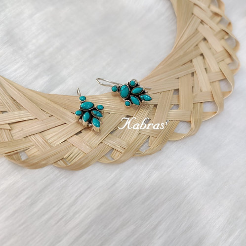 Leaf Drop Turquoise Dangler