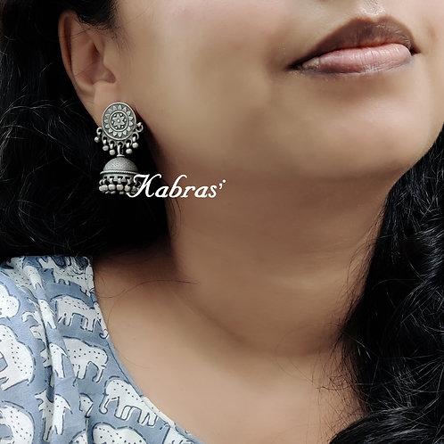 Floral Rawa Jhumka